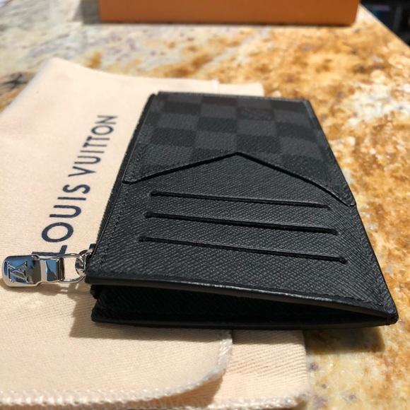 2830e87840 Coin Card Holder in Damier Graphite item #N64038